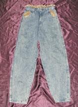 Trendy vintage 80s Oshkosh B'Gosh girls Acid washed paper bag jeans 12R 12 - $34.64