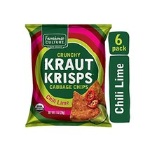 Chili Lime Kraut Krisps by Farmhouse Culture, Snack-Size Bags, Crunchy Cabbage C