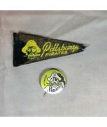 Pittsburgh Pirates ca 1950's Mini Felt Pennant and Pinback - $25.23