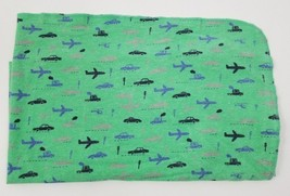 Carters Green Flannel Baby Boy Airplane Blanket Security Lovey Cars Blue... - $18.65 CAD