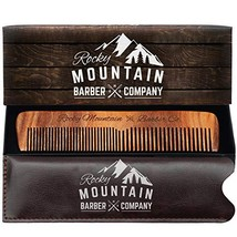 Hair Comb - Wood with Anti-Static & No Snag with Fine and Medium Tooth for Head