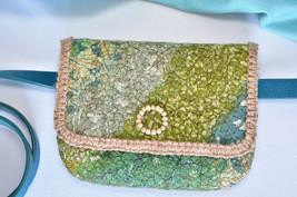 Boho style felted belt purse toiletry pouch hippie clutch - $34.99