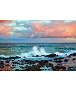 Poipu Beach Sunset in Kauai, Fine Art Photos, Paper, Metal, Canvas Prints - $40.00 - $442.00