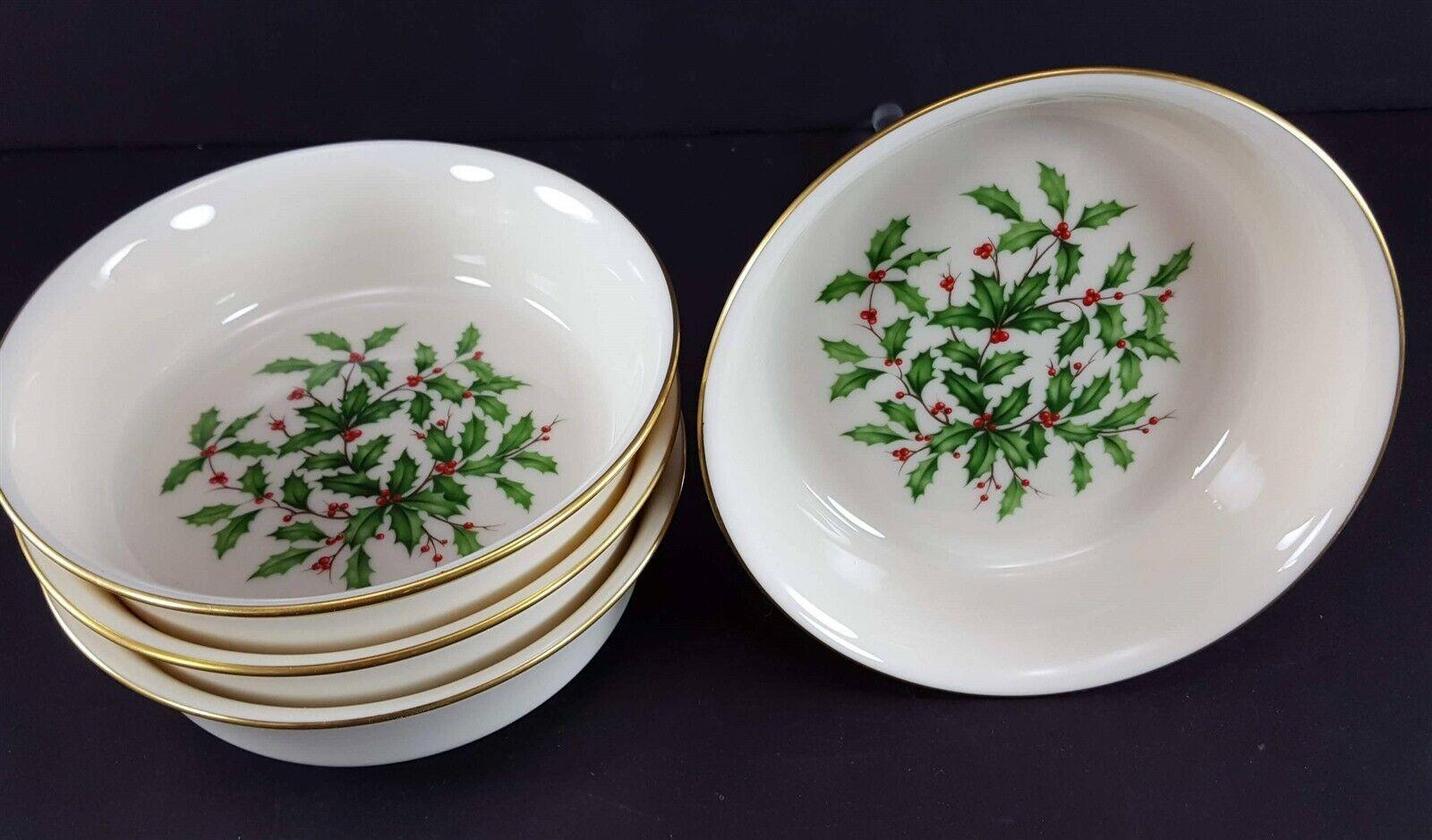 "LENOX China Holiday Dimension 4 Fruit/Dessert (Sauce) Bowl 5-3/8"" Dinnerware image 2"