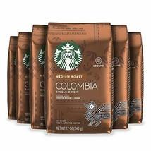 Starbucks Medium Roast Ground Coffee — Colombia — 100% Arabica — 6 bags 12 oz... - $51.53