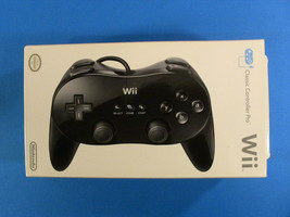 Nintendo Wii Clasic Controller Pro ~ Black, NIB New, Sealed - $71.50
