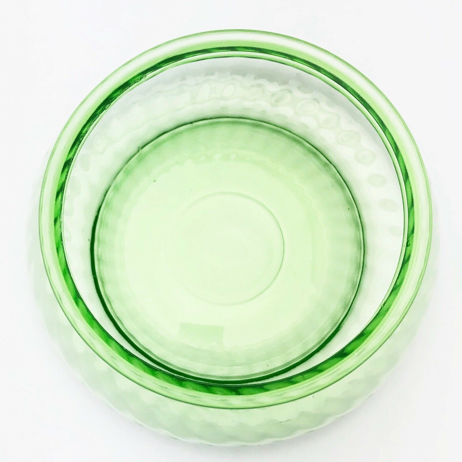 Imperial Glass Green Depression Twisted Optic Candy Dish w Lid Circa 1927