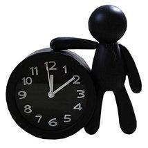 Nostalgia Noiseless Alarm Clock Kids' Birthday Gift Student Clock Black - $17.69