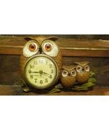 Burwood Owl Clock Vintage 1972 Homco 0457 - $17.57