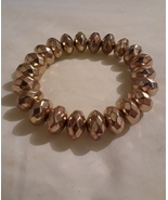 Gold Tone Beaded Fashion Stretch Bracelet - $7.00