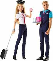 *Barbie Pink Passport Barbie & Ken flight attendant FNY33 - $50.12