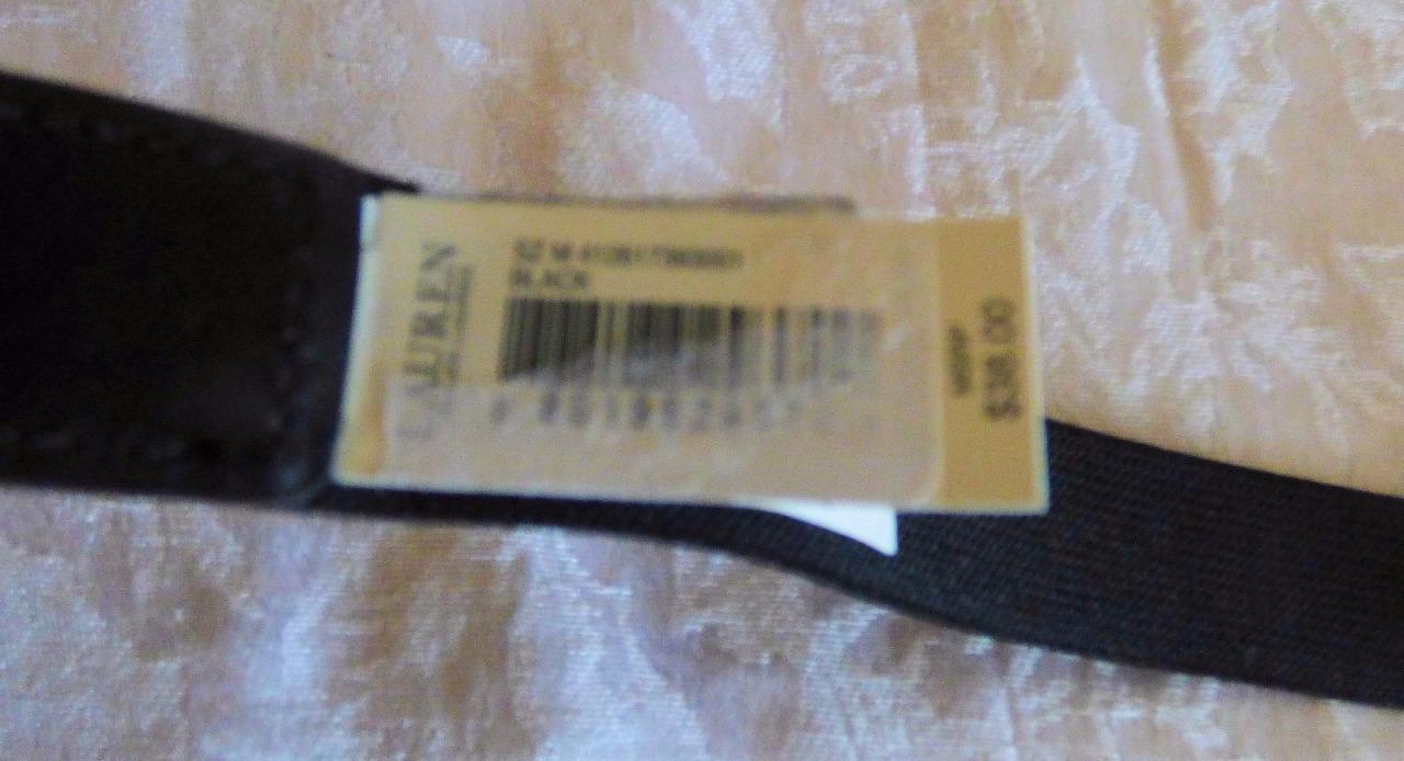 $38.00 Lauren Ralph Lauren Lexington Link Interlock Belt, Black, Size M