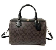 Coach Signature Bennett Satchel Tote Bag Handbag in Brown/Black - $188.09