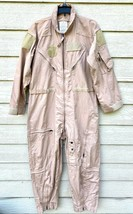 NEW GENUINE US AIR FORCE TAN NOMEX FIRE RESISTANT FLIGHT SUIT CWU-27/P -... - $123.75