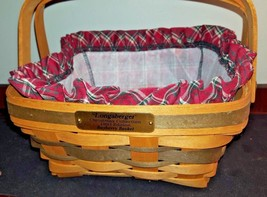 1993 Longaberger Christmas Collection 1993 Edition Bayberry basket with Christma - $19.00
