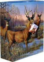 River's Edge Deer Design Gift Bag Extra Large 16 x 19 x 6-Inch #723 - $5.66