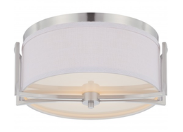 NUVO N604761 Flush Mount Lighting Fixture Brushed Nickel Finish w/Slate ... - $74.20