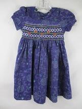 Sissymini Baby Girl's Size 24M 100% Cotton Short Sleeve Purple Floral Dress - $20.00