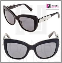 Dolce & Gabbana Spanish Roses 4252 Black White Polarized Sunglasses DG4252 - $228.69