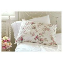 Simply Shabby Chic Quilted Blooming Blossoms Rose ONE Standard Pillow Sham Pink - $17.81