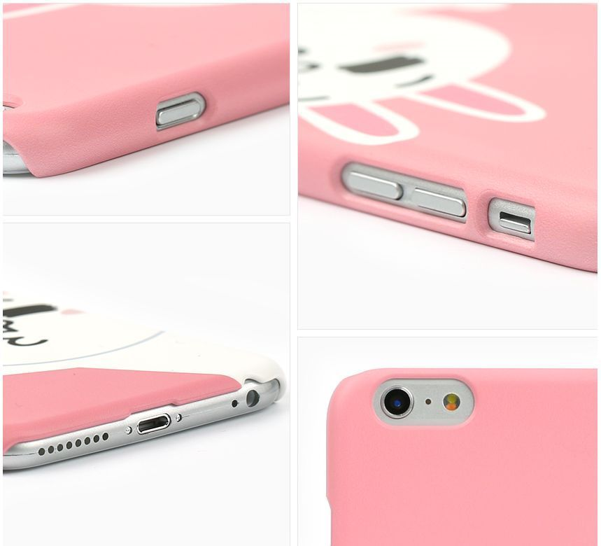 LINE Friends Character CONY Baby Pink iPhone 6+/6S+ Hard Case Phone Cover Mobile