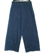 ❤️MAX Jeans High-Waisted Crop Stretch Denim Side-Zip Pants Culottes 6 NE... - $23.74