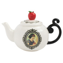 Walt Disney Snow White Heat Reactive Images Sculpted Ceramic Teapot UNUSED BOXED - $47.40