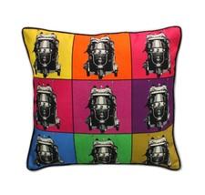 Fatfatiya  Cotton Canvas & Poly Dupion Multicolor   Cushion Cover  - $35.00