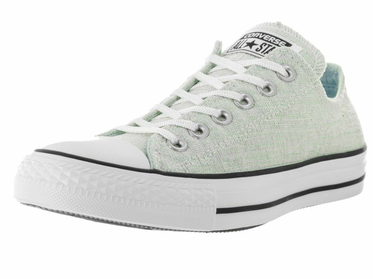 Converse Womens CT All Star Sparkle Knit Oxford Polar Blue/Black/White Size 8 - $52.17
