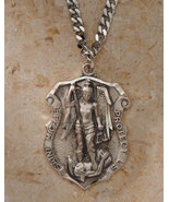 St. Michael Badge Pendant - Silver - $95.95
