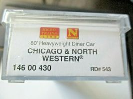 Micro-Trains # 14600430 Chicago & North Western 80' Heavyweight Diner N-Scale image 6