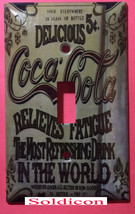 Coke Coca-Cola Delicious Poster Light Switch Outlet wall Cover Plate Home Decor image 1