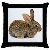 Throw pillow case wild rabbit bunny farmer ranch farm - $19.50