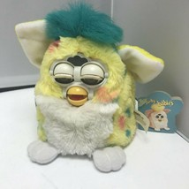 1999 Vintage Electronic Furby Babies Yellow Confetti Tiger Robotic Pet Toy - $129.99