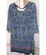Laundry By Shelli Segal Boho Chic Tribal Multi Color Dress Sz S festival... - $21.73