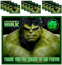 The Incredible Hulk Sticker Party Favors Supplies Label Stickers ONLY 12PCS - $16.78