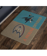 San Jose Sharks House Divided Anaheim Ducks Hockey Man Cave Decor Bar De... - $37.00