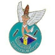 USAF Nose Art Death From Above Pin - $5.93