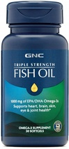 GNC Triple Strength Omega 3 Fish Oil 1000mg, 30 Count, Supports Joint - $61.81