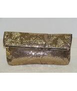 VICTORIA'S SECRET LIMITED EDITION FANTASY GOLD GLITTER CLUTCH HANDBAG PU... - $24.99