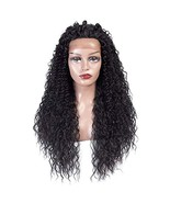 Anknia Synthetic Wig Lace Front Wig Natural Looking Curly Wavy Hair Good... - $35.68