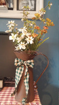 Farmhouse Rusty Pitcher Flower holder Centerpiece Kitchen  - $24.00