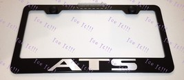 For Cadillac ATS Laser Style Stainless Steel Black License Plate Frame Caps - $13.37