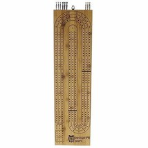 Giant Cribbage Board - Big Continuous 3 Track Wood Game with Large Metal... - $51.07
