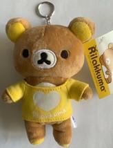 "San-X Authentic Licensed Rilakkuma 6.5"" Plush in Yellow Shirt Keychain - $11.99"