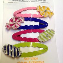 Gymboree Candy Shoppe Line NWOT Barrette Snap Clips Multicolor Square Round Cute - $14.95