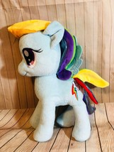 RAINBOW DASH My Little Pony Blue Stuffed Animal Hasbro 10 inches Collect... - $6.80
