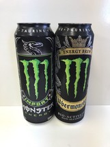 Monster Energy Drink Ubermonster & Import 18.6 Oz Cans. 2 x Full Reseala... - $29.99