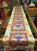 Tibetan White Endless Knot silk brocade Shrine/table/cover/cloth/runner/... - $48.00