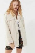 NWT Womens Levis Jeans Longline Sherpa Trucker Jacket in Cream sz XL - $73.26